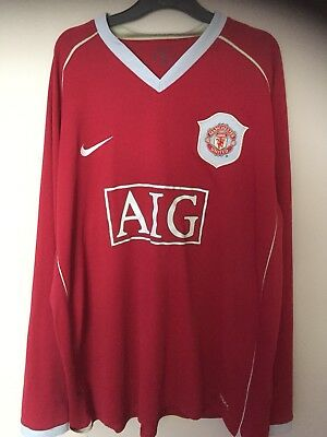 166a5267a Manchester United Home Football Shirt 2006-2007 Nike - Size XL (Long Sleeved )