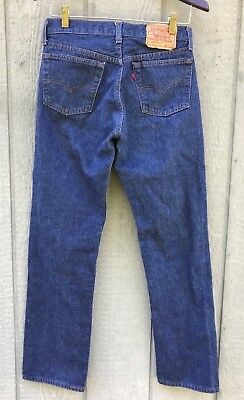 Vintage 80's LEVI 501 Made In USA #525 Button Fly Blue Denim Jeans 30x34 (28x30)