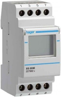HAGER EG103 WEEKLY Timer/Counter, Electric - (Grey, Digital ... on