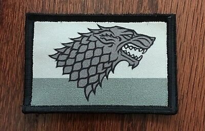 Game of Thrones  House Stark Sigil Morale Patch Tactical Military Army Flag USA
