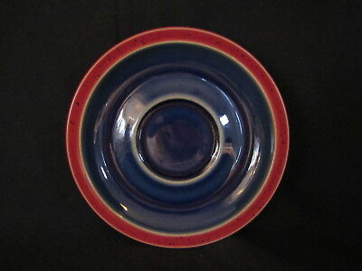 Denby HARLEQUIN - Saucer Only Red and Blue