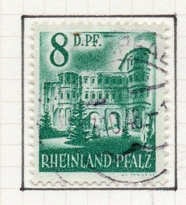 Germany Allied Occ France Zone 1948 Rhineland Issue Fine Used 8pf. 258891