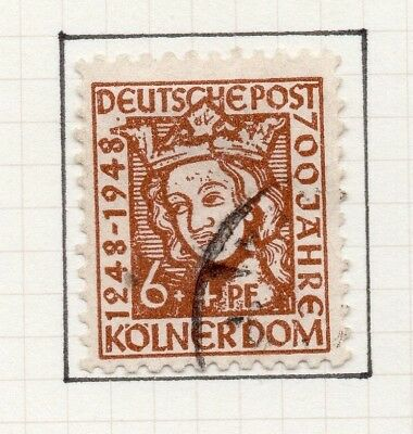 Germany Allied Occ British Zone 1948-49 Cathedral Issue Fine Used 6pf. 258823