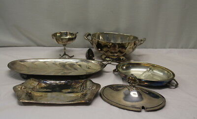 Silverplate Serving Pieces Lot of 8 Assorted Misc Pieces Tray, Soup Tureen Etc.