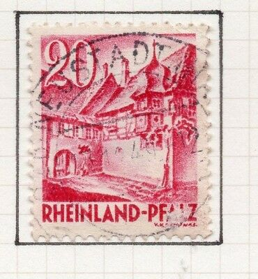 Germany Allied Occ France Zone 1948-49 Rhineland Issue Fine Used 20pf. 258901