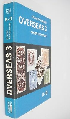Stanley Gibbons Overseas 3 Stamp Catalogue Catalog Countries K-O 1974