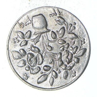 SILVER - Roughly the Size of a Dime - Fancy Eastern Coin/Token *893