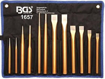 12-piece Pin Punch Set With Chisel And Center Punch