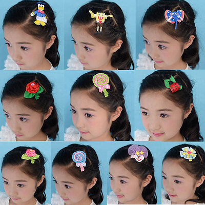20 BLESSING Good Girl Bug Hair Bow Clip Character Easter Chick Rabbit Egg Owl
