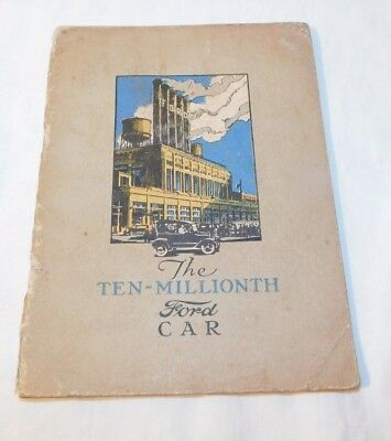 RARE 1920's Ford Motor Co Ten Millionth Ford Car Advertising Book