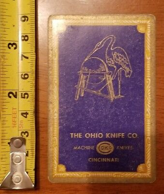 Rare Old Company Playing Card Single Ohio Knife Okco 606 Congress Queen Diamonds