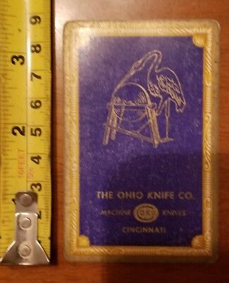 Rare Old Company Playing Card Single Ohio Knife Okco 606 Congress King Diamonds