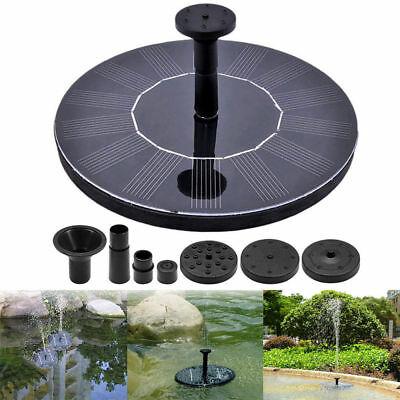 Solar Powered Fountain Water Pump Floating Pond Pool Garden Fish Tank Bird Baths