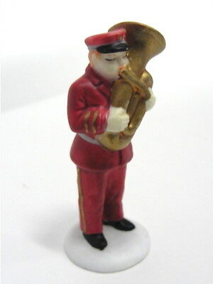 Dept 56 Christmas In City - Salvation Army Band 59854 Musician Tuba Figure New