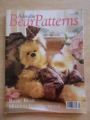 Adorable Bear Patterns~Emma~Basil~Buzz-Bee~Jindallee~Pepino~Lockie~Angus~Bunny