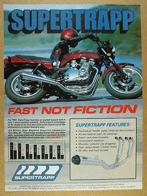 1983 Suzuki GS1100E motorcycle photo SuperTrapp Exhaust Systems vintage print Ad