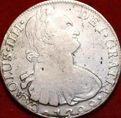 1799 Spain 8 Reales Silver Foreign Coin
