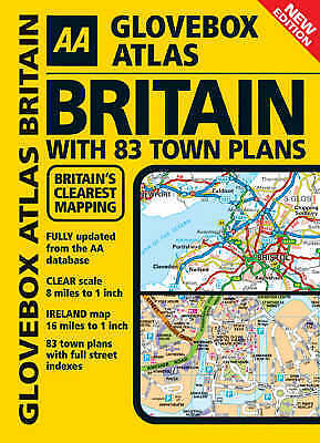 """""""AS NEW"""" , AA Glovebox Atlas Britain with Town Plans (Road Atlas), Spiral-bound"""