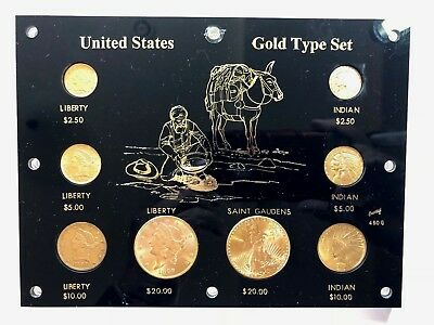 8 Coin Pre1933 Us Gold Coin Type Set In Capital Plstic Holder Nice Look