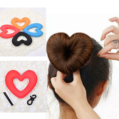 Women Girl Hair Heart Sponge Bun Maker Hairstyle Styling DIY Tool Accessory Hot