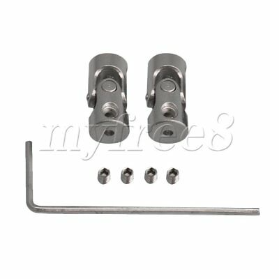 2xLength 18mm ID 2-2mm Rotatable Motor Shaft Universal Joint Connector Coupler