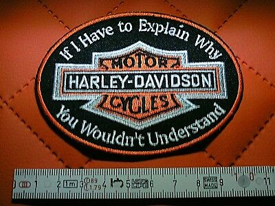 Harley Davidson B&S``If I Have to Explain Why..´´Aufnäher Patch Патчи 10 x 7,5cm