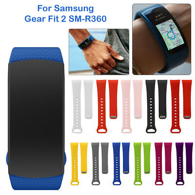 For Samsung Gear Fit 2 SM-R360 Silicone Replacement Band Wrist Strap Bracelet