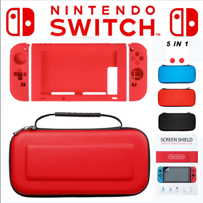 Hard EVA Carry Case Bag+Shell Cover+Charging Cable+Protector for Nintendo Switch
