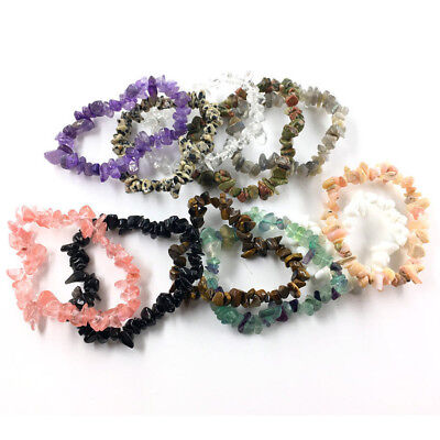 Hot Sale Natural Gem Stone Bracelet Stretch Chip beads Bracelets LL711