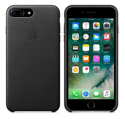 Original Apple Case iPhone 7 Plus / 8 Plus Leder Handy Cover Schwarz Black NEU