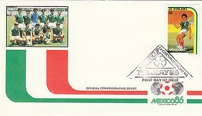 (33051) St Vincent FDC - Football World Cup 1986 - Mexico #1