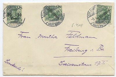 Deutsche Post Türkei Brief Konstantinopel Freiburg 1914