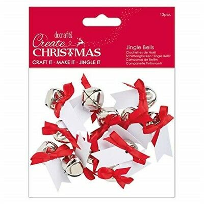 Create Christmas Message Bells-set Of 12 Pieces, Multi-colour, One Size