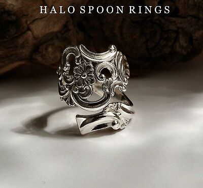 Beautiful Norwegian Silver Fancy Pattern Spoon Ring  Only One Available!!