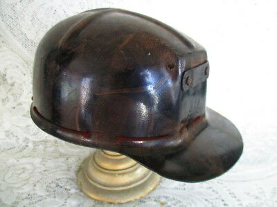 Vintage Pennsylvania Anthracite Coal Miner Comfo Cap Low Vein Hard Shell w Liner