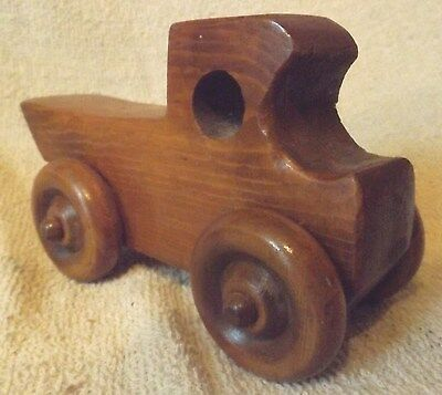 Vintage Woodware--Hand Carved Wood Antique Truck--Very Nice--Great Patina