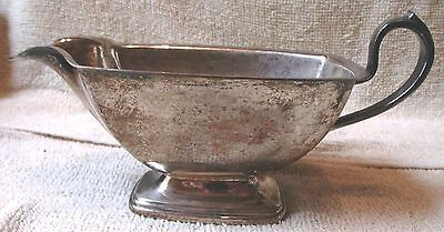 """Vintage--Sterling Silver Plated Gravy Dish--8 1/4"""" Long--Very Nice--Great Patina"""