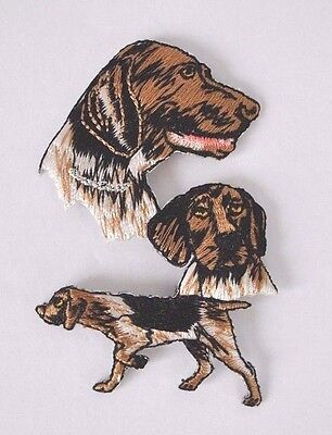 **embroidered** Iron On  Patch Detailed Top Quality Multi Dog German Shorthair