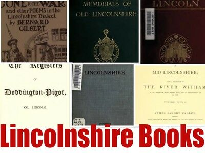 120+ Lincoln Lincolnshire History Books Genealogy Topography parish registers CD