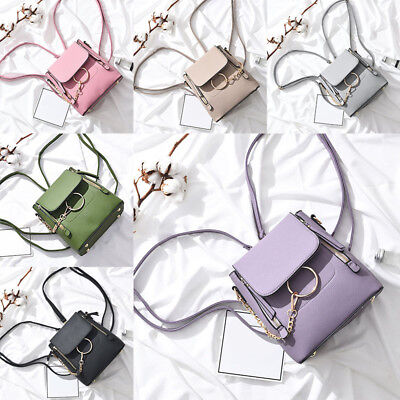 Women Crossbody Backpack Purse Small Pu Leather Shoulder Bag Chain Satchel Bag
