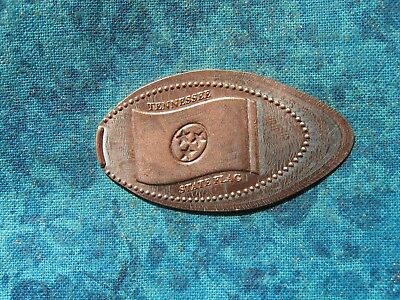 TENNESSEE STATE FLAG Elongated Penny Pressed Smashed 18