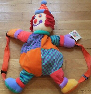 NEW  Vintage  GYMBOREE  Gymbo the Clown  BACKPACK  Plush  NWT