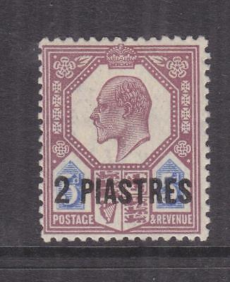 BRITISH LEVANT, 1908 KEVII 2 Piastres on 5d. Dull Purple & Ultramarine, lhm.