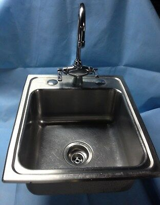 Stainless steel drop in hand sink