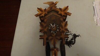 Vintage Hubert Herr Triberg Cuckoo Clock For Parts or Repair FREE SHIPPING