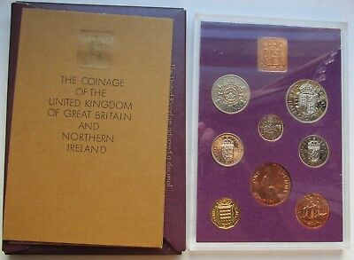Great Britain & Northern Ireland 1970 Cased Proof Set Last of old coinage w/CoA
