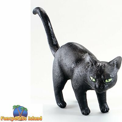 "Halloween Black #Cat 9/"" Rubber Movie TV Prop Fancy Dress Decoration Accessory"
