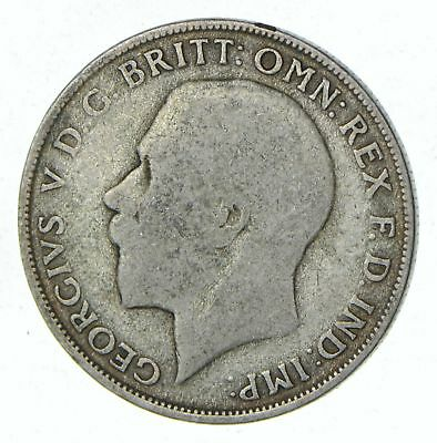Roughly Half Dollar Size - 1921 Great Britain 1 Florin - Silver Coin 10.9g *557