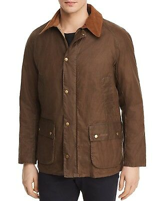 Barbour Men's Brown Lightweight Ashby Full Zip Waxed Jacket