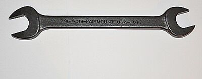 VINTAGE FAIRMONT USA  7/8 X 11/16 Black Oxide Open End  Wrench New Old Stock